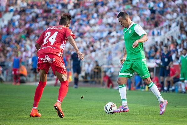Kadir, en el partido disputado en Girona (Foto: Lof).