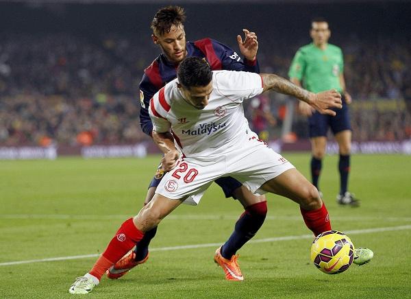 Vitolo y Neymar (EFE).