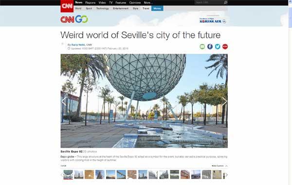 Pantallazo del reportaje que realiza la CNN sobre la Cartuja.