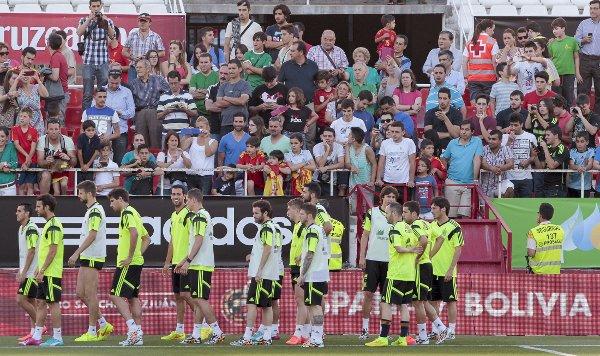 La Selección, en el Sánchez-Pizjuán (Foto: Julio Muñoz / Efe)