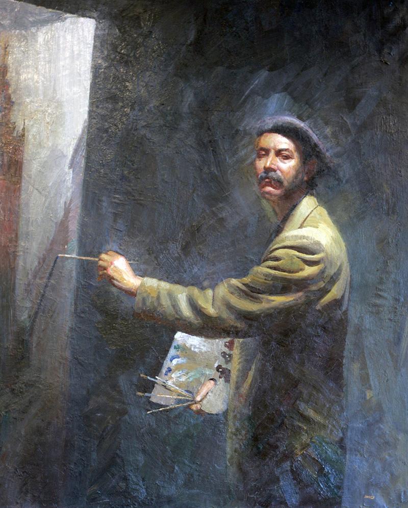 Autorretrato del pintor Amalio García del Moral. / El Correo