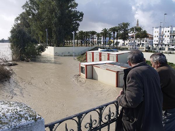 Una de las crecidas del río Genil a su paso por el municipio de Écija. / M.R.