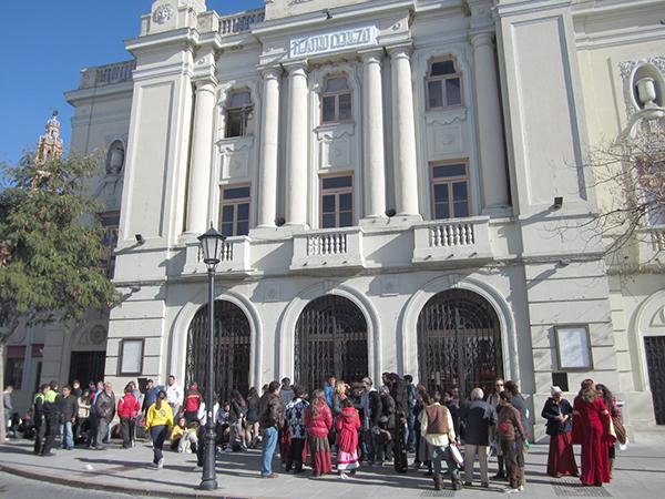 El gallinero del teatroCerezo de Carmona entró dentro de las obras planificadas en el PlanSupera. / ElCorreo
