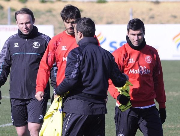 Reyes, en el entrenamiento de esta mañana (Foto: Manuel Gómez)