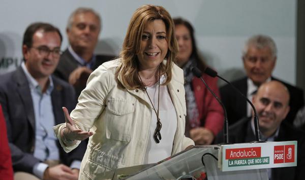 Presidenta de la Junta de Andalucía y secretaria general PSOE-A, Susana Díaz