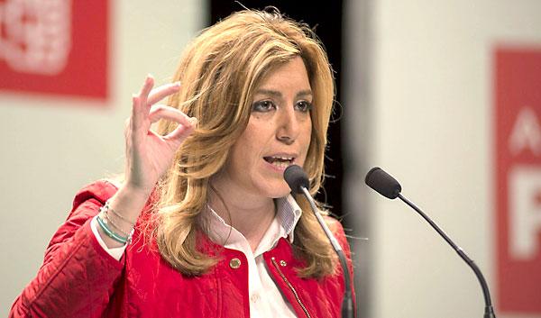 Susana Díaz en un acto de partido en Martos (Jaén). / EFE