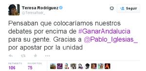 Teresa Rodriguez tuit