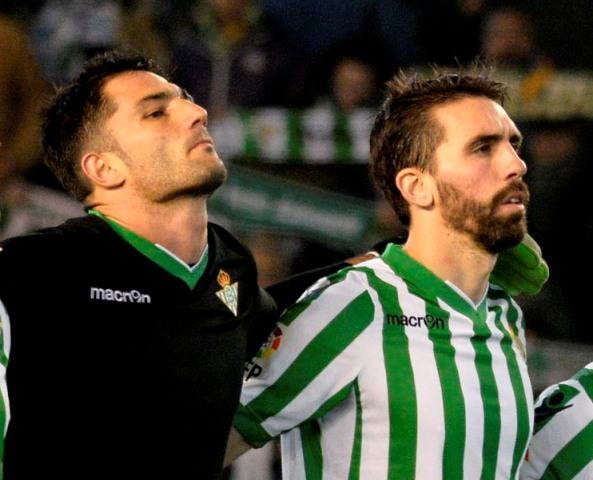 Adán y Jordi, antes del Betis-Tenerife / Foto: Manuel Gómez