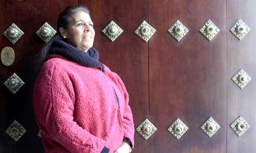 La cantaora sevillana Aurora Vargas, en Cajasol. / José Luis Montero