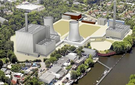 Recreación de la central que la filial de Iberdrola construirá en el sur de Berlín.