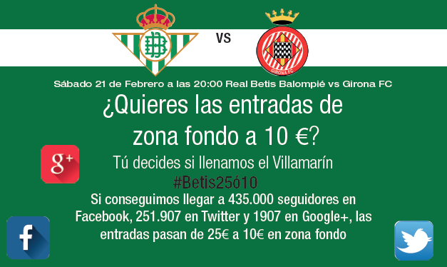 Esta es la promoción que lanza el Betis para el partido contra el Girona.