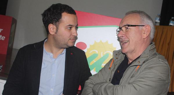 Cayo Lara junto a Daniel González.