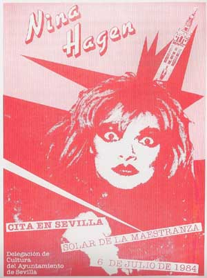 Nina Hagen, con la Giralda como peineta, en otro de los carteles.