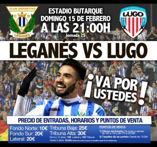 Este es el cartel del Leganés-Lugo, con Chuli como protagonista / CD Leganés