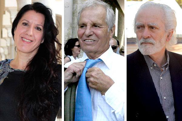 Los tres andaluces galardonados: La sevillana María Pagés (i), Manuel Benítez 'El Cordobés' (c) y Manolo Sanlúcar (d). / El Correo