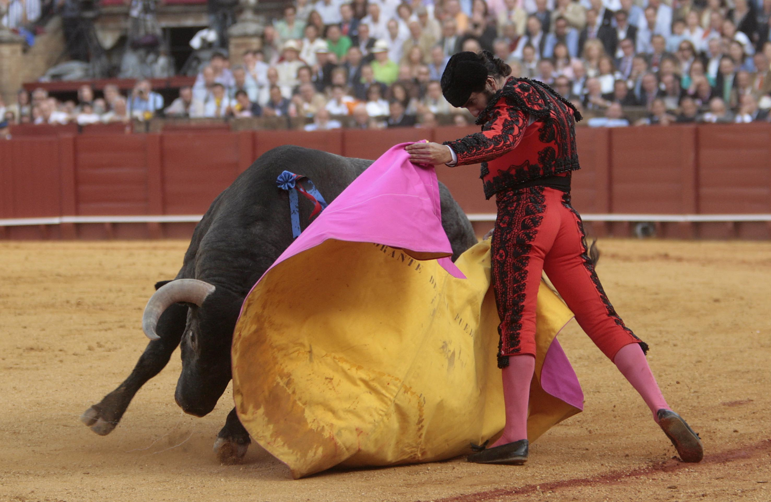 Imagen de archivo de una corrida en la Feria de Abril.