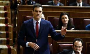Pedro Sánchez, en el Congreso. Foto: E.P.