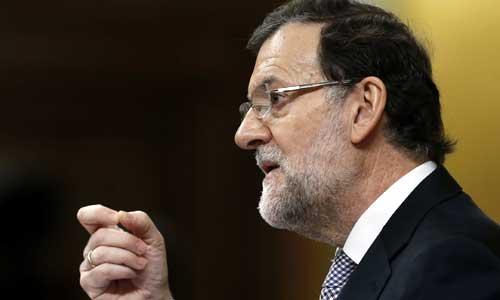 El presidente del Gobierno español, Mariano Rajoy, interviene en la segunda jornada del debate del estado de la nación en el Congreso de los Diputados. EFE