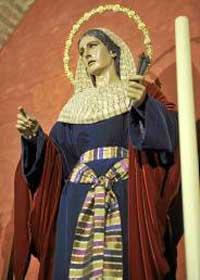 Santa Marta, vestida de hebrea. / R.A.