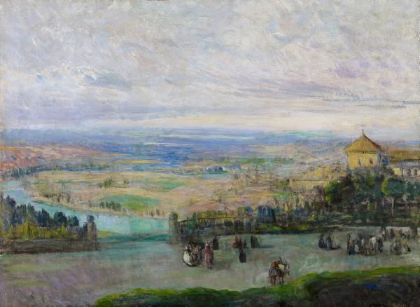 Gonzalo Bilbao dejó su sello en obras como Vista del río Guadalquivir. / El Correo