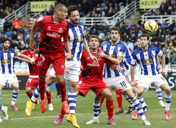 Kolo, en Anoeta, donde el Sevilla perdió 4-3 (Efe).