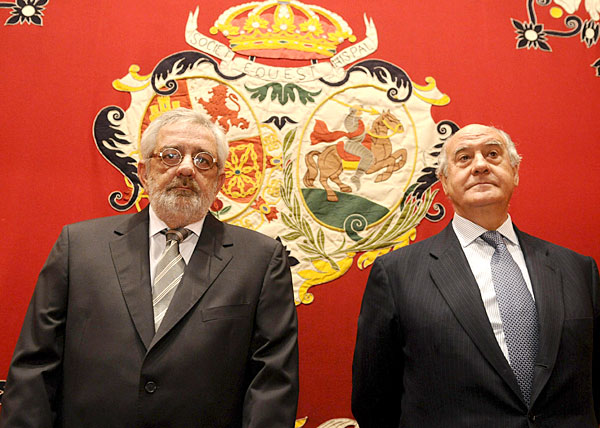 Eduardo Canorea (i) y Ramón Valencia, gerentes de la empresa Pagés.