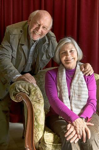 Los actores Álvaro de Luna y Tina Sáinz. / Pepo Herrera