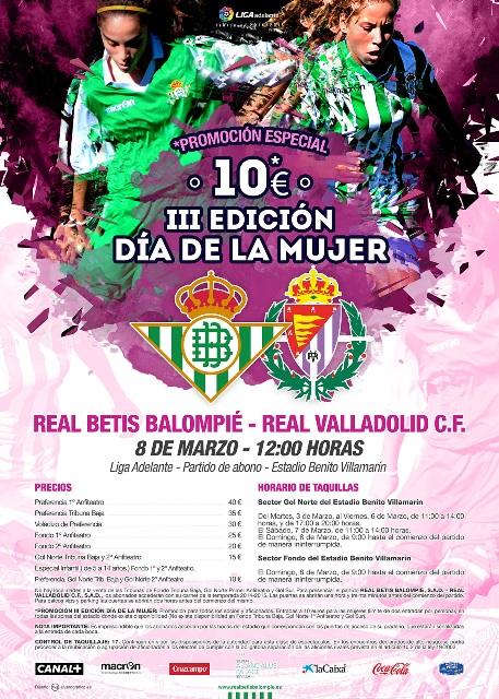 El cartel conmemorativo del Día de la Mujer Bética / Imagen: Real Betis