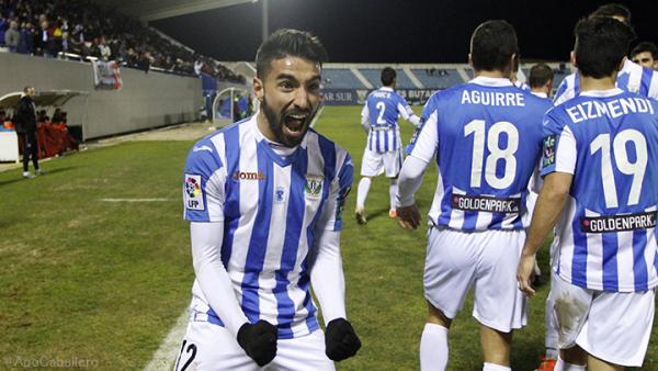 Chuli celebra uno de sus goles como jugador del Leganés / Foto: eldeportedesdemadrid.com