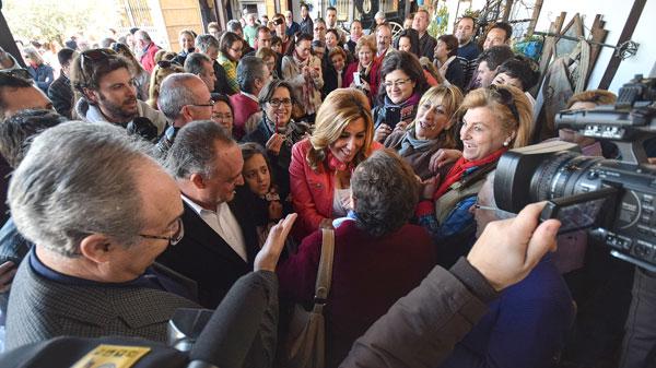 Susana Díaz este sábado en Castto del Río (Córdoba). / PSOE-A