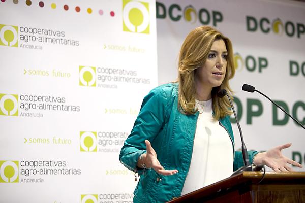 Susana Díaz, hoy en Antequera. / EFE