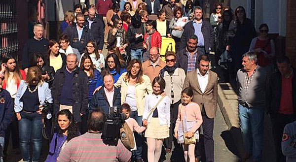 Susana Díaz en el Viso del Alcor. / PSOE-A